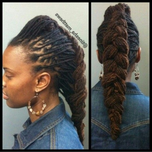 Pictures Of Dreadlocks Hairstyles Elegant Loc Braided Style With Latest Braided Dreadlock Hairstyles For Women (View 10 of 15)