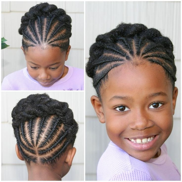 Pictures Of The Week: Natural Hairstyles For Little Girls – Rochelle With Regard To Latest Cornrows Hairstyles For Little Girl (View 14 of 15)