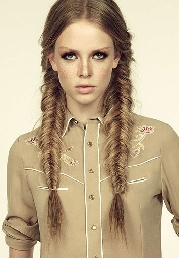 Pigtail Fishtail Braids – 43 Fancy Braided Hairstyle Ideas From… With Best And Newest Pigtails Braided Hairstyles (View 6 of 15)