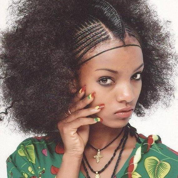 Pinami Yimer On Ethiopian Models | Pinterest | Fine Hairstyles Within Current Ethiopian Cornrows Hairstyles (View 14 of 15)