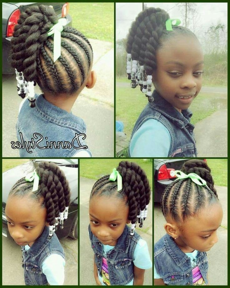 Pinc R On Little Black Girls Hair Pinterest Quick Braided Inside Latest Braided Hairstyles For Little Black Girl (View 13 of 15)