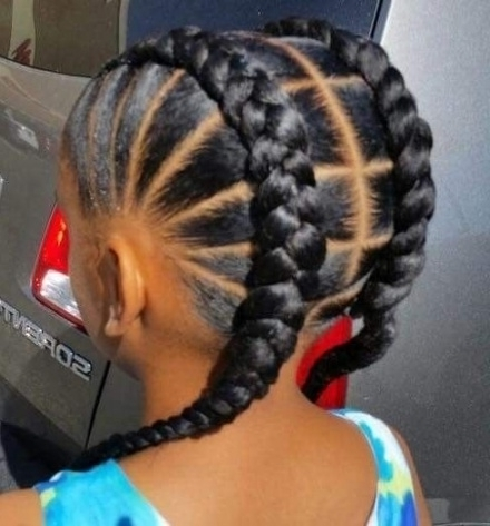Pincoli Cole On Jaydakiss | Pinterest | Girl Hairstyles, Black With Regard To Most Recent Braided Hairstyles For Black Girls (View 13 of 15)