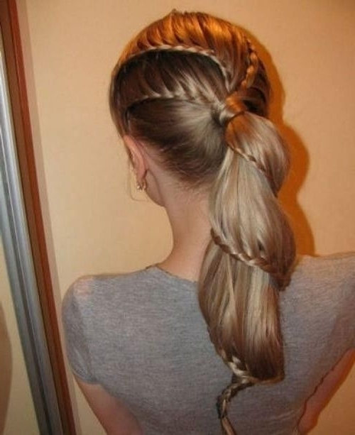 Pinfaith Wong On Hair | Pinterest | Unique Hairstyles, Hair In Best And Newest Ponytail Braids With Quirky Hair Accessory (View 7 of 15)