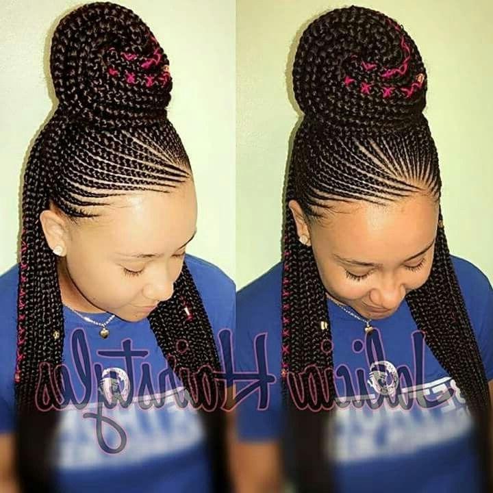 Pinhannah Brant On Simply Cute | Pinterest | Black Girls Regarding Newest Carrot Cornrows Hairstyles (View 8 of 15)