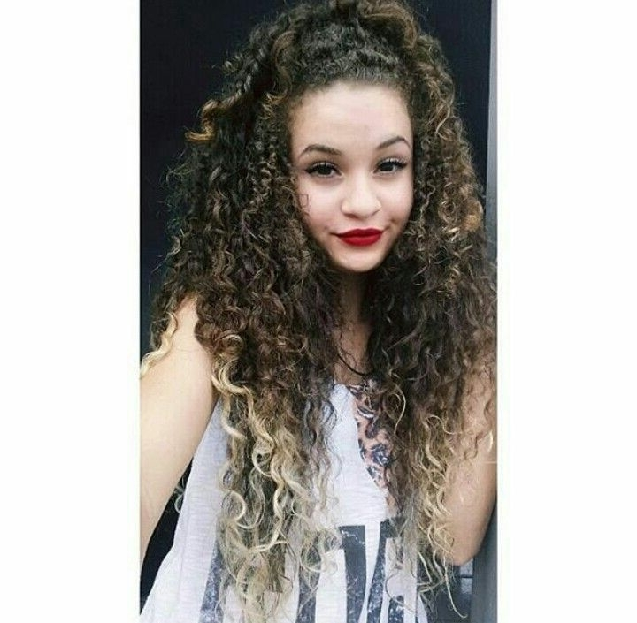 Pinkayla Roberts On Curly Mane | Pinterest | Curly, Braided Inside Latest Braided Hairstyles For Naturally Curly Hair (View 11 of 15)