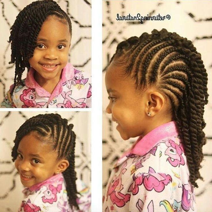 Pinlinda Medley On Hair | Pinterest Inside Latest Cornrows Hairstyles For Little Girl (View 2 of 15)