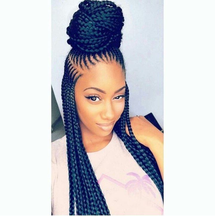 Pinmisty Chaunti' On Braided Up | Pinterest | Black Girls Throughout Best And Newest Braided Hairstyles With Weave (View 6 of 15)
