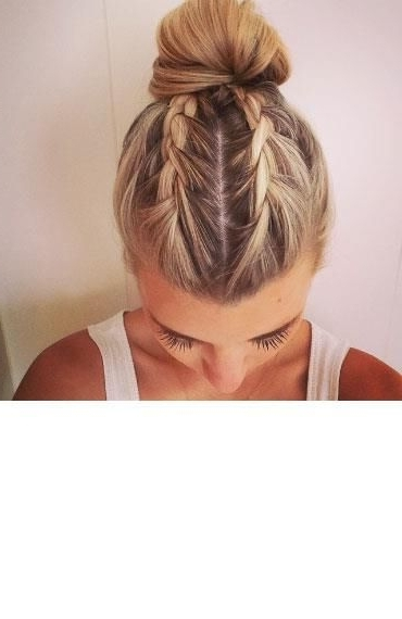 Pinneve Obrien On Hair And Makeup | Pinterest | Create, Hair Within 2018 French Braids Into Braided Buns (View 8 of 15)