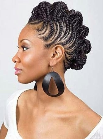 Pinsaran Doumbouya On Braided | Pinterest | Cornrow And Hair Style With Regard To Current Spirals Rolled Braided Updo (View 15 of 15)