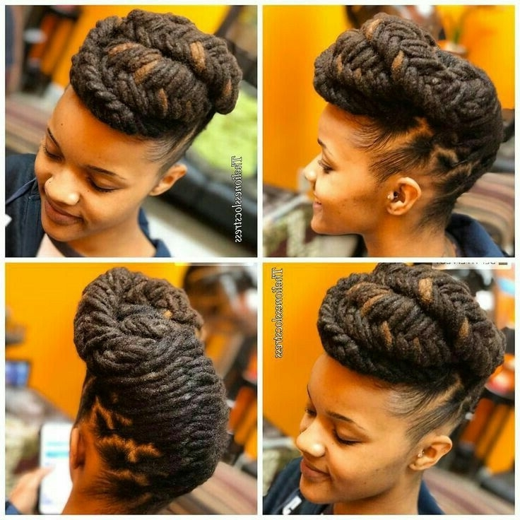 Pinshee Max On Locs   Pinterest   Elegant Updo, Updo And Locs Pertaining To Recent Dreadlock Cornrows Hairstyles (View 14 of 15)