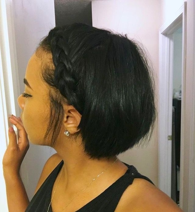 Pinterest: @kekedanae20 | Hair | Pinterest | Hair Style, Short Hair For Most Up To Date Braided Hairstyles For Relaxed Hair (View 15 of 15)
