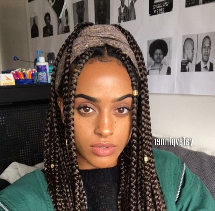 Pinterest ; Yafavpinner ? | B R A I D S | Pinterest | Protective With Current Box Braids Hairstyles (View 3 of 15)