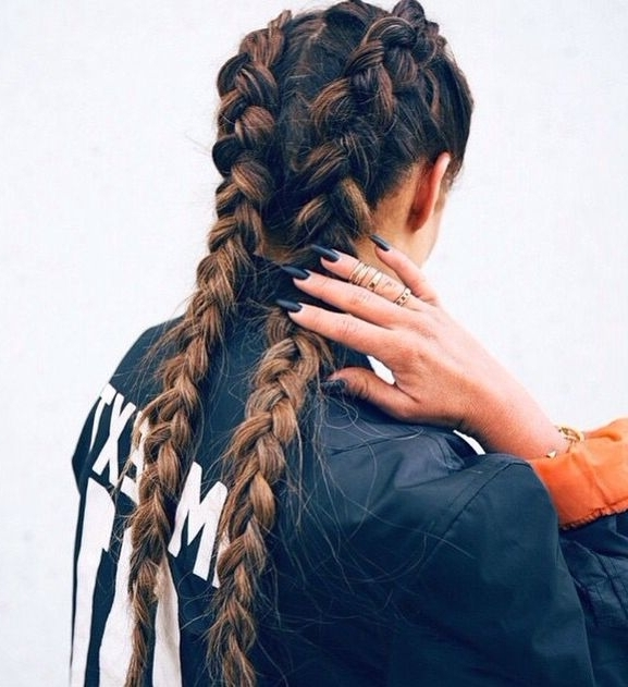 Pinzeynep On Saç&makyaj   Pinterest   Hair Style, Makeup And With Most Up To Date Pigtails Braids With Rings For Thin Hair (View 8 of 15)