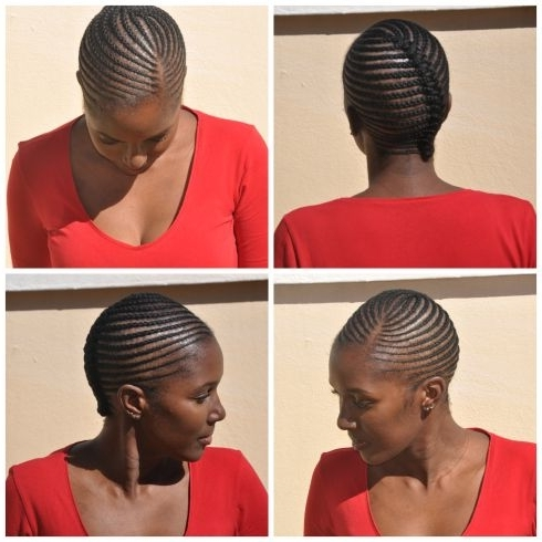 Plaits, Lines, No Extension, Simple   Natural Hair Styles For Most Recently Cornrows Hairstyles Without Extensions (View 6 of 15)
