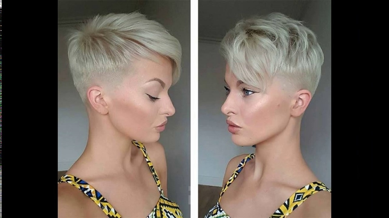 Platinum Blonde Short Haircuts – Youtube Within Most Recently Bleach Blonde Pixie Haircuts (View 4 of 15)