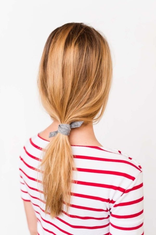 Pony Up: How To Create An Effortless Ponytail (In 3 Minutes) With A Throughout Most Recently Side Top Knot Ponytail With Copper Wire Wraps (View 10 of 15)