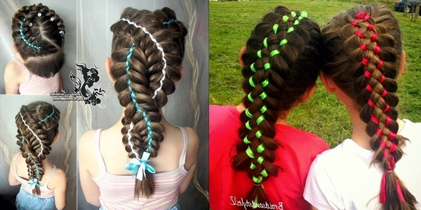 Pretty Braids With Ribbons! – The Haircut Web Within Most Current Braided Ribbon Hairstyles (View 4 of 15)