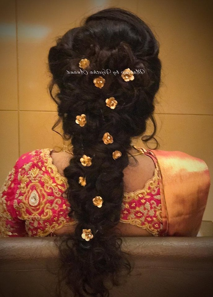 Pretty Bridal Updo For Reception Or Sangeet Or Mehndi (View 11 of 15)