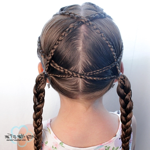 Pretty Hair Is Fun: Criss Cross Braids For Little Girls – Pretty With Regard To 2018 Mohawk With Criss Crossed Braids (View 12 of 15)