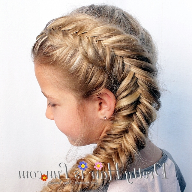 Pretty Hair Is Fun: Side Dutch Fishtail Braid – Pretty Hair Is Fun In Most Recently Two French Braids And Side Fishtail (View 10 of 15)