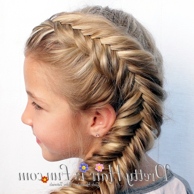 Pretty Hair Is Fun: Side Dutch Fishtail Braid – Pretty Hair Is Fun Intended For Most Recent Two French Braids And Side Fishtail (View 14 of 15)