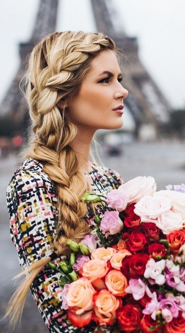 Pretty Side Braid Hairstyles | Hair & Make Up | Pinterest | Natural With Current Loose Side French Braid Hairstyles (View 4 of 15)