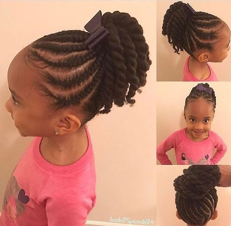 Princess Crown Braid: One Of The Best Updated Version For Teenage With 2018 Cornrows Hairstyles For School (View 4 of 15)