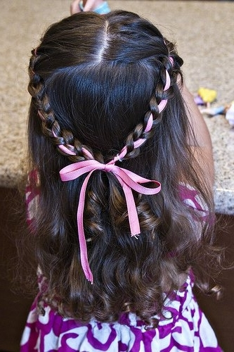 Princess Ribbon Braids | Holiday Hairstyle Ideas For Little Girls Throughout Current Braided Ribbon Hairstyles (View 9 of 15)