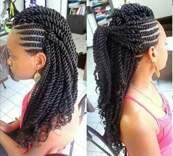 Protective Braided Hairstyles For Black Women – Braided Hairstyles In 2018 Braided Hairstyles For Black Woman (View 10 of 15)