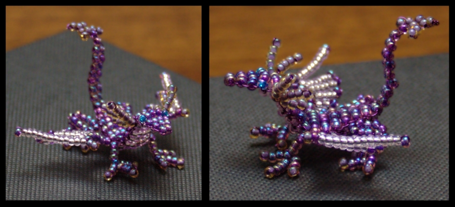 Purple Bead Dragoncrazyclur On Deviantart Throughout Most Recent Ponytail Wrapped In Copper Wire And Beads (View 15 of 15)