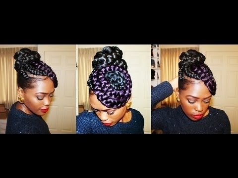 Putting My Thought Into Action: Braided Bun N Swirls – Youtube With Latest Large Braided Updos (View 8 of 15)