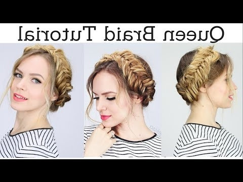 Queen Braid Hair Tutorial   Kayleymelissa – Youtube Pertaining To Recent Queen Braided Hairstyles (View 1 of 15)