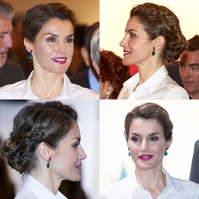 Queen Letizia Of Spain Wows With Effortlessly Chic Braided Hairstyle Throughout Most Popular Queen Braided Hairstyles (Gallery 14 of 15)