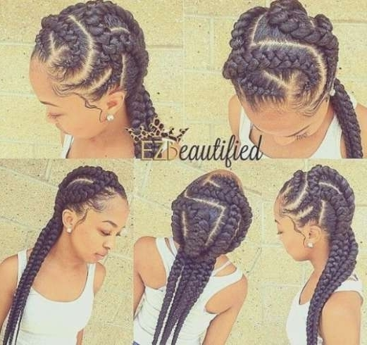 Quick Braid Hairstyles With Weave Quick Ghana Braid Style Regarding Most Recent Quick Braided Hairstyles With Weave (Gallery 14 of 15)