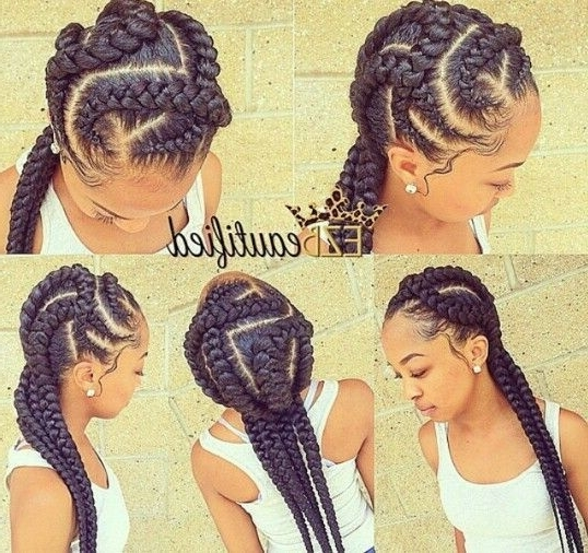 Quick Ghana Braid Style | Fashionable Braids | Pinterest | Ghana Pertaining To Most Recent Quick Braided Hairstyles With Weave (Gallery 9 of 15)