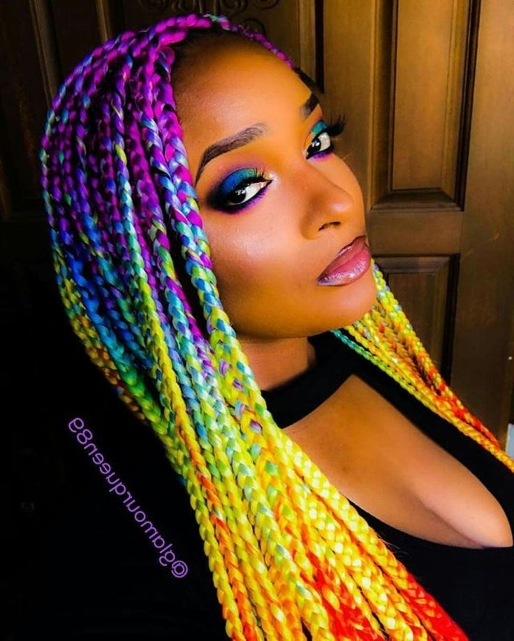 Rainbow Box Braids (View 5 of 15)