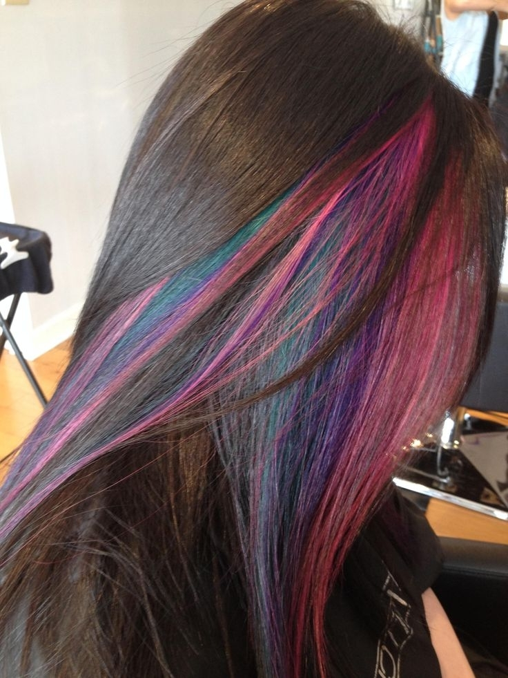Rainbow Hair: 30 Crazy Rainbow Hair Color Inspirations In Recent Extra Long Blue Rainbow Braids Hairstyles (View 12 of 15)