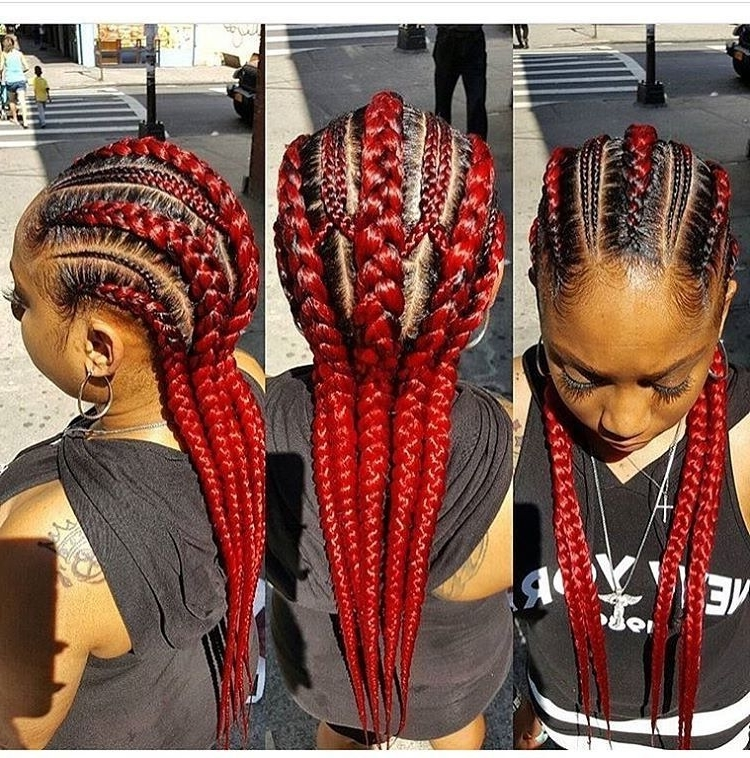 Red Braided Hairstyle | Braid Me Up! | Pinterest | Braid Hairstyles Throughout Newest Red Braided Hairstyles (View 2 of 15)