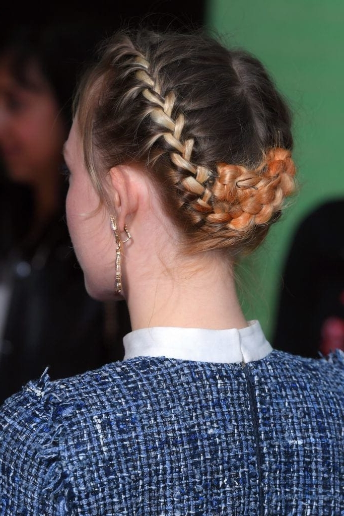 Red Carpet Approved Updo Hairstyles For Work That'll Up Your Mane Game For Most Up To Date Pinned Up French Plaits Hairstyles (View 8 of 15)