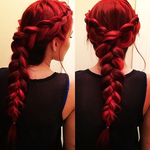 Red Hair Lover | Hair | Pinterest | Red Hair, Hair Coloring And Hair Throughout Recent Braided Hairstyles For Red Hair (View 2 of 15)