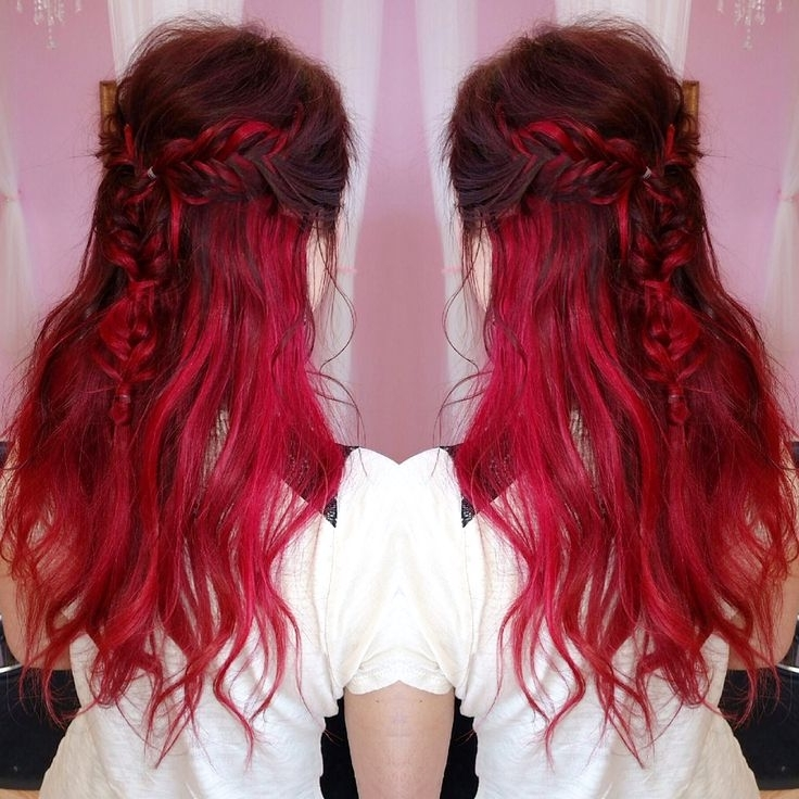 Red Ombre Mermaid Braid – Hair Colors Ideas In Most Recently Braided Hairstyles For Red Hair (View 6 of 15)