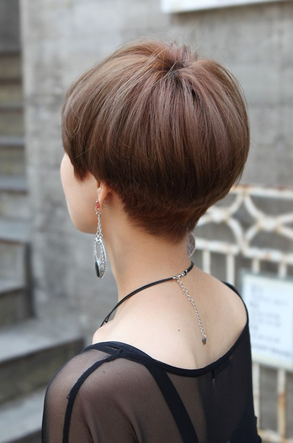 """Related Posts Of """"back View Of Short Wedge Haircut"""" 