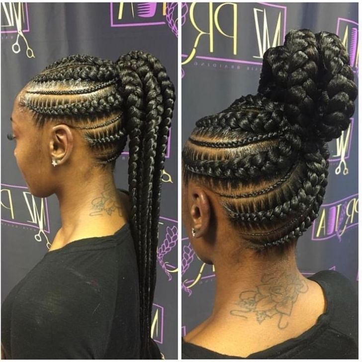 Relaxed Hair Concept Toward Long Braid Hairstyles Black Hair For Newest Braided Hairstyles On Relaxed Hair (View 6 of 15)