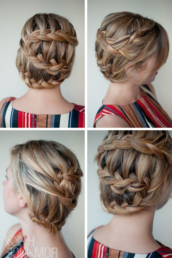 Romantic Unique Braided Updo Hairstyle – Top Hairstyle For Summer With Best And Newest Unique Braided Up Do Hairstyles (View 5 of 15)