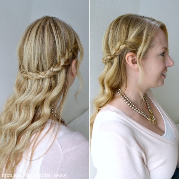 Romantic Waves And Braids Hair Tutorial In Most Recent Braids And Waves For Any Occasion (View 12 of 15)