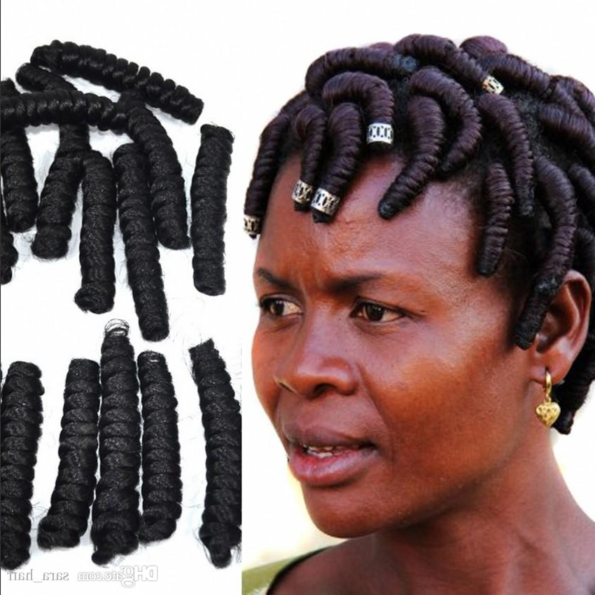 Sara Springy Crochet Torsional Braid Hair Extension Afro Braiding With Regard To Current Top Knot Ponytail Braids With Pink Extensions (View 14 of 15)