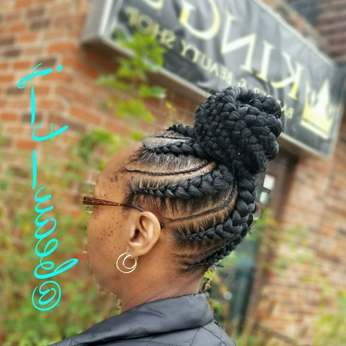 Schedule Appointment With Beauty J Braids/ The Beauty J Experience For Latest Feed In Bun With Ghana Braids (View 4 of 15)
