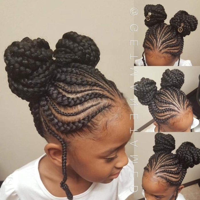 Schedule Appointment With Manetamed Studio With Current Feed In Bun With Ghana Braids (View 7 of 15)