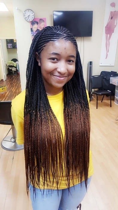 Schedule Appointment With Neat Pretty Braids Inside Latest Half Cornrows Half Individual Braids (View 6 of 15)