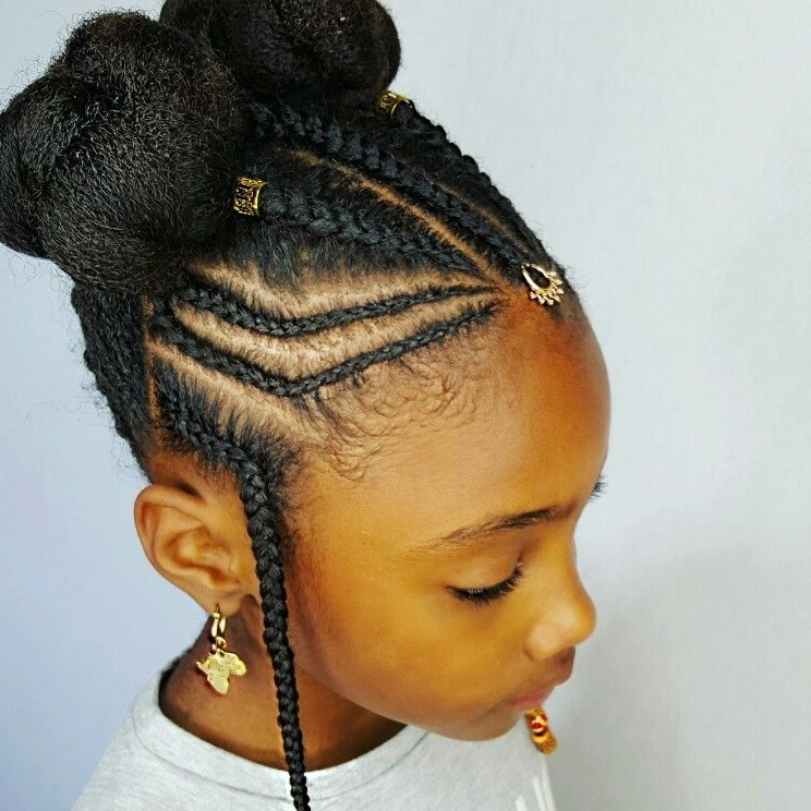 She Used Flat Twists To Create Fabulous Summer Curls On Short Inside Most Up To Date Cornrows Hairstyles For Kids (View 14 of 15)